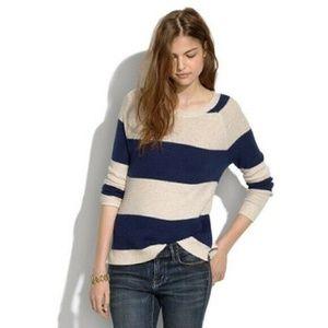 Madewell Leafstitch Rugby Nautical Stripe Sweater